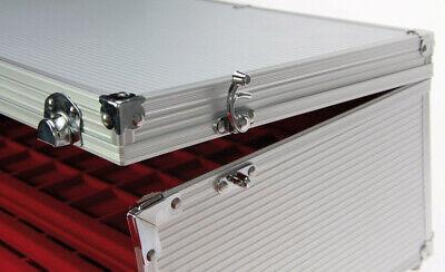 Look Alluminio Valigia per Monete Gigante 15 Tableaux Rosso 60 Scompartimenti 7