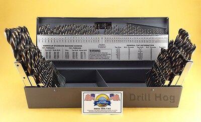 Drill Hog® 115 Pc Drill Bit Set Letter Number HI-Molybdenum M7 Lifetime Warranty 2