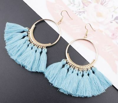 Fashion Women Bohemian Ethnic Tassel Dangle Hook Drop Boho Earring Jewelry AU 11