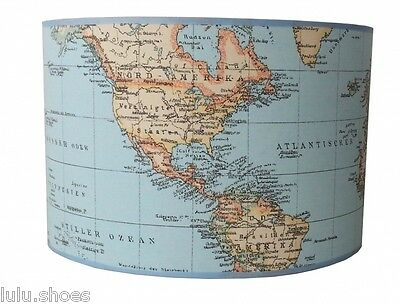 World map globe curtain upholstery dress cotton fabric material 6 of 9 world map globe curtain upholstery dress cotton fabric material 140cm wide blue gumiabroncs Images