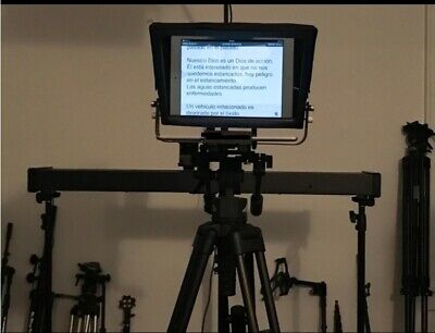"12"" Adjustable Teleprompter for 10"" Tablet-iPad-Smartphone. Strong & Lightweight 4"