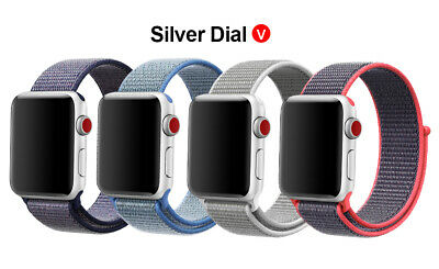 Woven Nylon Band For Apple Watch Sport Loop iWatch Series 4/3/2/1 38/42/40/44mm 11