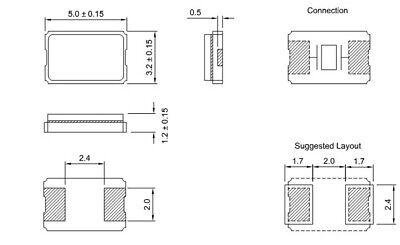 5PCS 33M 33MHz 33.000MHz OSC Active Crystal Oscillator 0705 7mm×5mm NEW