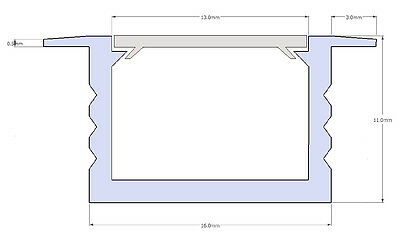 Ab 1,90 €/M 2M LED Profil u Abdeckung Leiste Schiene f. LED Band Streifen Stripe 12