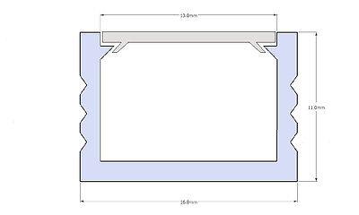 Ab 1,90 €/M 2M LED Profil u Abdeckung Leiste Schiene f. LED Band Streifen Stripe 11