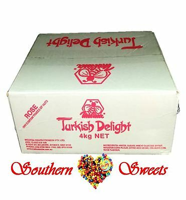 Turkish Delight Rose Flavoured Bulk 4Kg Made In Australia Weddings Parties Event