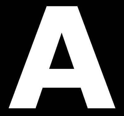 White Self Adhesive 80mm Letters /& Numbers Design Wheelie Bin House Name