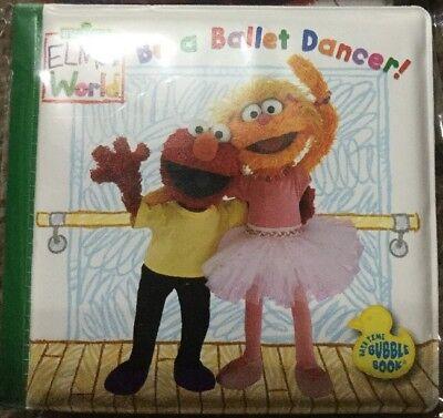 Sesame Street Elmo World Ballet Dancer Bath Soft Infant Kid Educational Book NIB
