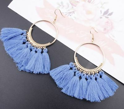 Fashion Women Bohemian Ethnic Tassel Dangle Hook Drop Boho Earring Jewelry AU 12