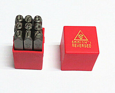 Reversed 9PC Steel Number Stamps Punch Dies Set Select Size 2