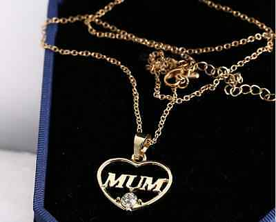 Family couple Heart Love Necklace gold Silver Pendant Women Charm Chain Jewelry 8