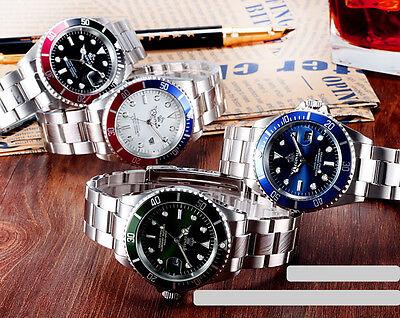 REGINALD Luxury Men's Wrist Watch Analog Sports Sapphire Glass Rotatable Bezel 6