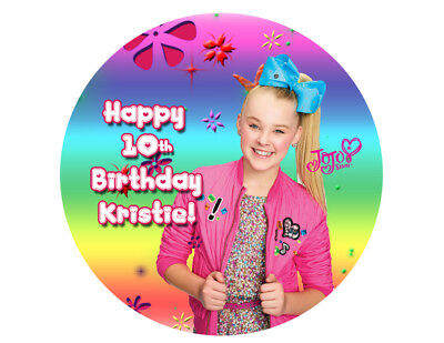 Jojo Siwa Edible Birthday Cake Topper Paper Sugar Sheet Picture Cupcakes Cookies 3