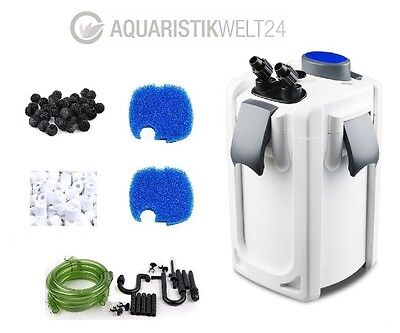 Aquarium Außenfilter Hw-702-704A/B UVC Klärer 400-1000l Becken Filtermaterial 4