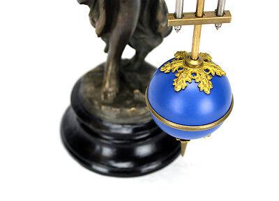 Beautiful Ansonia Cut 8 Day Movement Brass Fisher Lady Mystery Swinger Clock 9