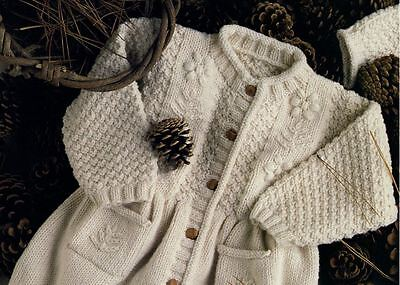 BC009 KNITTING PATTERN BABY CHILDREN'S CARDIGAN WITH PATTERN PANEL IN DK