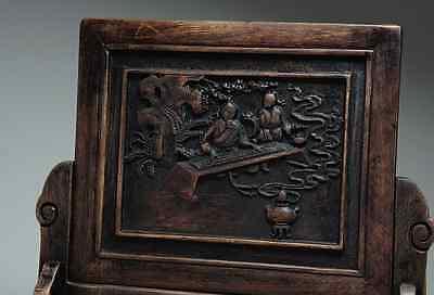 Chinese Qing Dynasty Wooden Screen 硯屏 /  KENBYO / W 25× H 26.5 [ cm ] 901g 2
