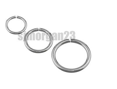 Fake Piercing Ring. Nose Lip Or Body Parts Silver, Black ,Gold Various Sizes.