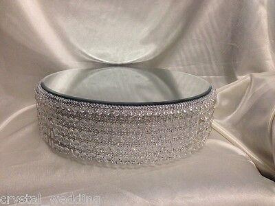 Crystal wedding cake stand & separator set -  round or square 6