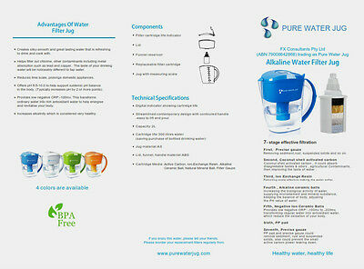 Alkaline Water Jug with Ionization and minerals.Electronic timer Pure Water Jug 7