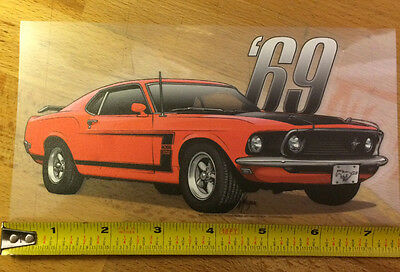 1969 Mustang Boss 302 Vinyl Sticker First Generation