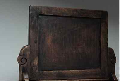 Chinese Qing Dynasty Wooden Screen 硯屏 /  KENBYO / W 25× H 26.5 [ cm ] 901g 6