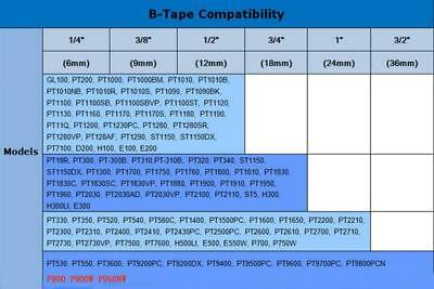 10PK TZe231 Black on White Compatible for Brother TZ231 12mm TZ Label Tape 1/2''