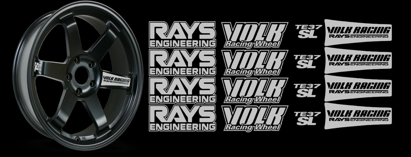 JDM Reflective RAYs VOLK Racing TE37SL Wheel 16 sticker decal Drift 6
