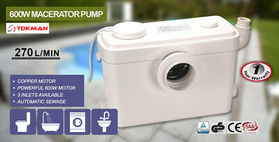 Macerator Sewerage Pump Waste Water Marine Toilet Disposal Unit Laundry Basement 8