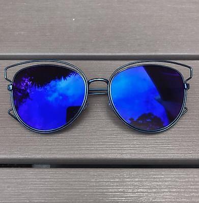 Hot Colors Metal Cat Eye Technologic Cideral Celebrity Glasses Sunglasses 4053