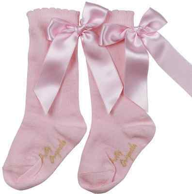 BNWT Girls Classic Knee Length Socks with Bows by Pretty Originals 6