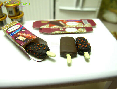 3 Dollhouse Miniature Food Dessert Chocolate Ice cream Sticks 1:12 Fridge Decor 10