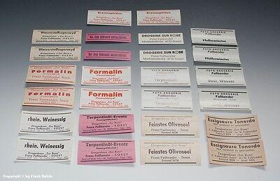 26 x Etiketten für Apotheken Flaschen aus SOEST um 1900-1970 6