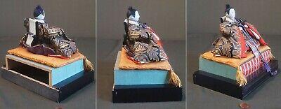 Fine Japanese Meiji Period Emperor & Empress Dolls on Stand 4