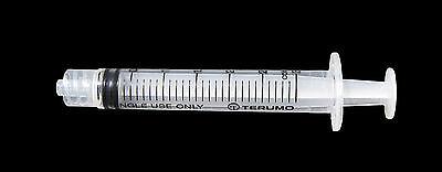 100 x 3ml Terumo Syringes, Luer Lock Tip, Syringe For Medical Hypodermic Needles 2