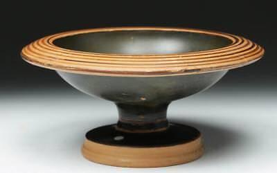 Greek Attic Black-Figure Footed Dish - Dionysos Lot 20B
