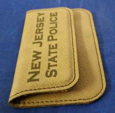 Njsp new jersey state police 45 dark brown leather business card 4 of 8 njsp new jersey state police 45 dark brown leather business card holder reheart Choice Image