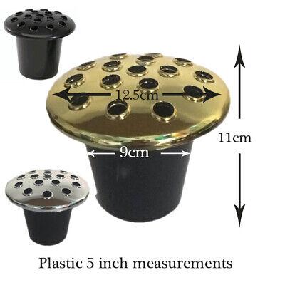 Metal & Plastic Grave Pot Replacment Part Dome Crem Vase Pots Headstone Insert 2