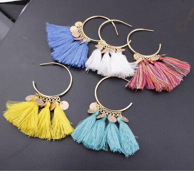 Fashion Bohemian Earrings Women Vintage Long Tassel Fringe Boho Dangle Earrings 4