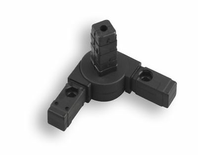Kreuze Schwarz 1 Steckverbinder  für Quadratrohr Kunststoff//Polyamid