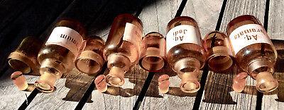Apotheker - 4 x schicke Glaskappenfläschchen - u. a. BROM - Gruseldeko :-) 11