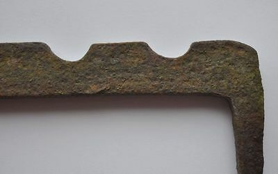 19th Century Russia Beautiful Primitive Hammered Barn Hook Bracket LARGE