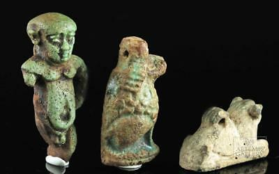Lot of 3 Egyptian Faience Amulets Lot 2