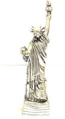 "4"" Statue of Liberty Figurine w.Flag Base and New York City SKYLines NYC #Silver 3"