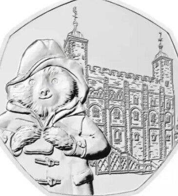 UK Coin 50p Pence 2019 Paddington At The London Tower New UNC From Sealed Bags 2