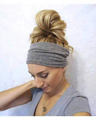 Extra Wide Stretch Elastic Band Yoga Hair Headband Ladies Girls School Sports