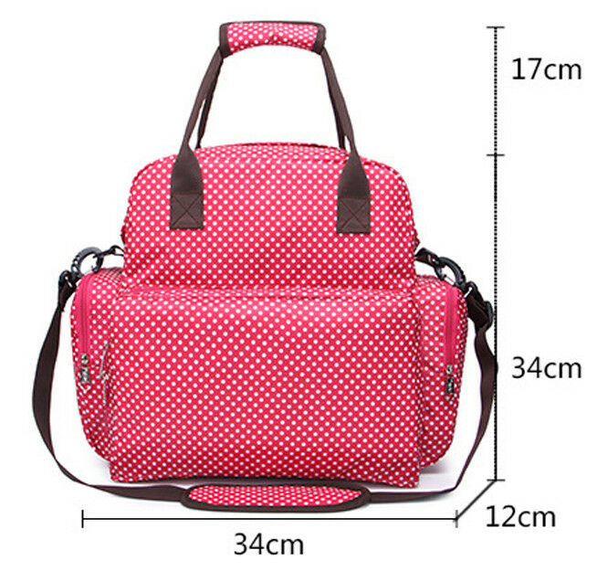 Large Capacity Mummy Bag Baby Diaper Nappy Maternity Changing Travel Backpack US 8