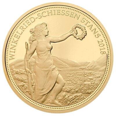 Switzerland 2018 Stans Shooting Thaler 500 Swiss Francs Gold NGC PF70 PR70 UC 3