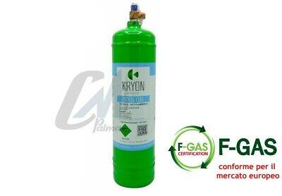 Bombola Gas Refrigerante Condizionatori R134A Da 12 / 2,5 / 0,9 Kg Conforme Eu 4