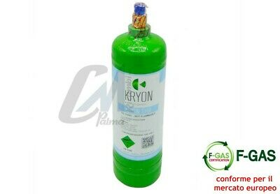 Bombola Gas Refrigerante Condizionatori R134A Da 12 / 2,5 / 0,9 Kg Conforme Eu 2